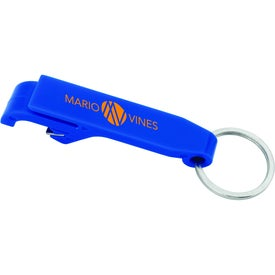 Plastic Bottle Opener Keychain Printed with Your Logo
