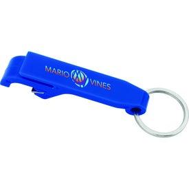 Plastic Bottle Opener Keychain for Advertising