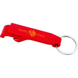 Monogrammed Plastic Bottle Opener Keychain
