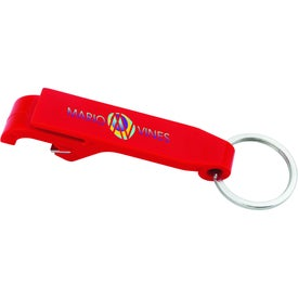Plastic Bottle Opener Keychain Branded with Your Logo