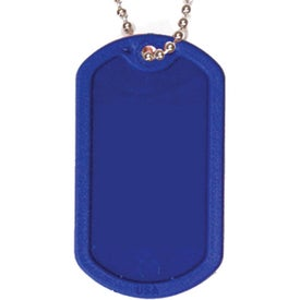 Advertising Plastic Dog Tag with Ball Chain