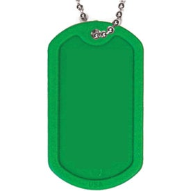 Plastic Dog Tag with Ball Chain for Customization