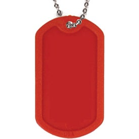 Plastic Dog Tag with Ball Chain Imprinted with Your Logo