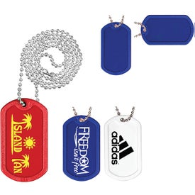 Plastic Dog Tag with Ball Chain