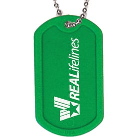 "Plastic Dog Tag with 4 1/2"" Ball Chain for Your Church"