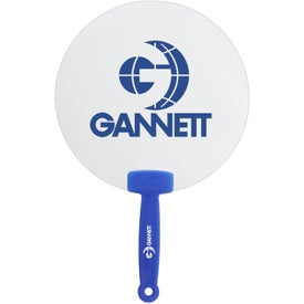 Clear Plastic Hand Fan with Your Slogan