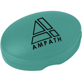 Imprinted Compact Oval Pill Box