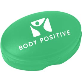 Compact Oval Pill Box Imprinted with Your Logo