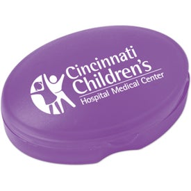 Branded Compact Oval Pill Box