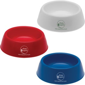 Branded Plastic Pet Bowl