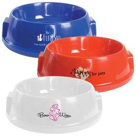 Advertising Plastic Pet Bowl