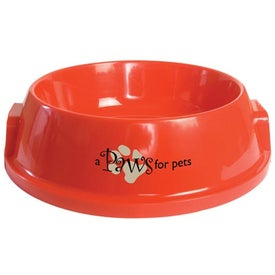 Plastic Pet Bowl with Your Logo
