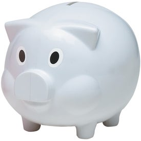 Plastic Piggy Bank with Your Slogan