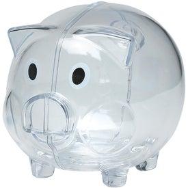 Plastic Piggy Bank for Advertising