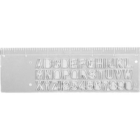 6 Inch Plastic Stencil Ruler Trade Show Giveaways 0 23 Ea