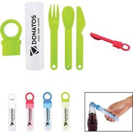 Plastic Utensil Set With Bottle Opener