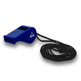 Monogrammed Plastic Whistle