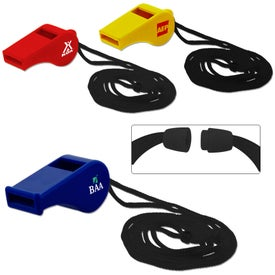 Plastic Whistle Imprinted with Your Logo