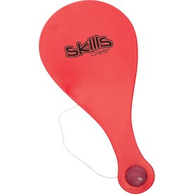 Plastic Paddle Ball Game for Advertising