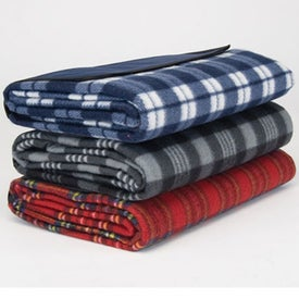 Personalized Playful Plaid Picnic Blanket