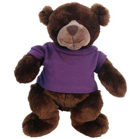 Plush Bear Marty with Your Slogan