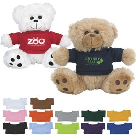 Plush Big Paw Bear With Shirts (6