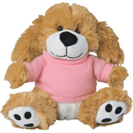 "Plush Big Paw Dog With Shirt (6"")"