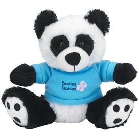 "Plush Big Paw Panda With Shirt (6"")"