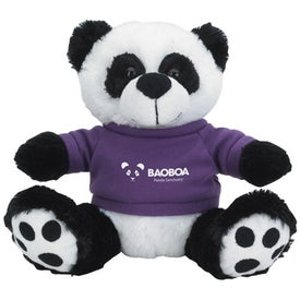 Custom Plush Big Paw Panda with Shirt