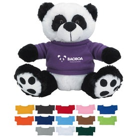 Plush Big Paw Panda with Shirt (8.5 In.)