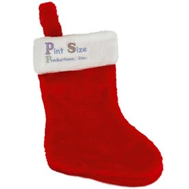 Plush Christmas Stocking Imprinted with Your Logo