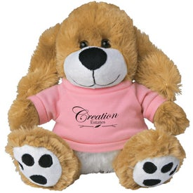 Plush Big Paw Dog with Shirt for Marketing