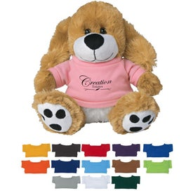 Plush Big Paw Dog with Shirts (8.5