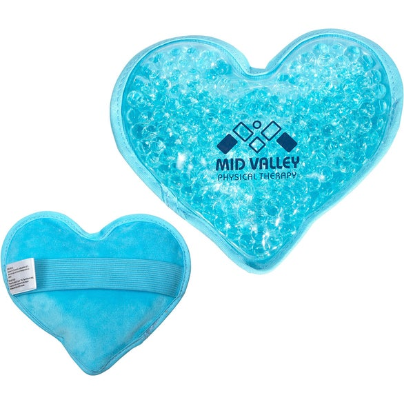 Pastel Blue Plush Heart Hot and Cold Pack