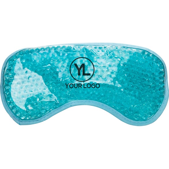 Pastel Blue Plush Hot and Cold Eye Mask