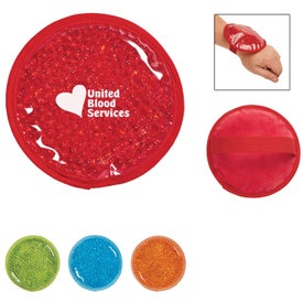 Plush Small Round Gel Beads Hot Cold Pack