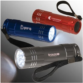 Personalized Pocket 9 LED Torch