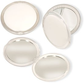 Pocket Dual Vanity Mirror with Your Slogan