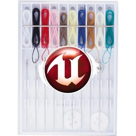 Promotional Pocket Pre-Threaded Sewing Kit