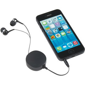 Pocket Size Retractable Ear Buds with Your Slogan