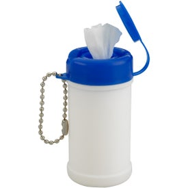 Pocket Size Wet Wipe Canister Imprinted with Your Logo