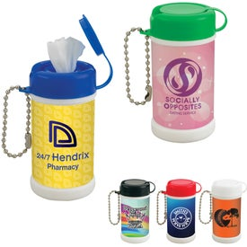 Pocket Size Wet Wipe Canister Giveaways