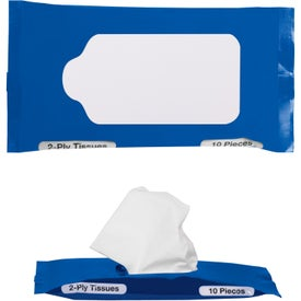 Personalized Pocket Travel Facial Tissues