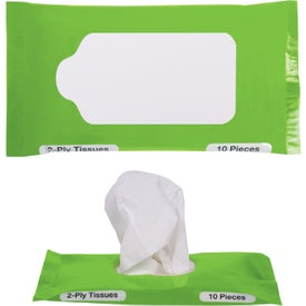 Pocket Travel Facial Tissues for Marketing