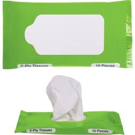 Pocket Travel Facial Tissues for Marketing