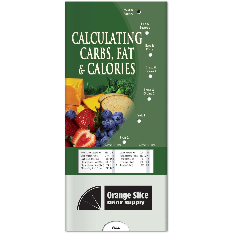 Pocket Slider: Calculating Carbs, Fat and Calories