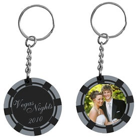 Printed Poker Chip Photo Keytag