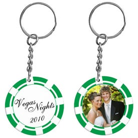 Poker Chip Photo Keytag for your School
