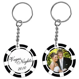 Poker Chip Photo Keytag with Your Logo