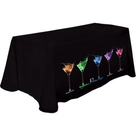 Poly Fabric Throw Table Cover (4')